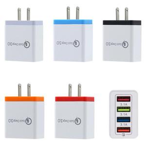 4 USB telefone rápido carregador 5V 3A multi-plugue porta carregador de viagem Carregador Rápido Mobile para iPhone 11 pro Max samsung