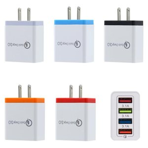 4 USB-Fast-Handy-Ladegerät 5V 3A Multiport-Reiseladegerät Stecker Fast Charger Handy für iphone 11 pro max Samsung