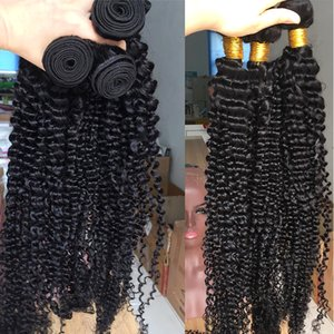 kinky curly bundles with closure Brazilian hair weave bundles with closure human hair 28 30 inch bundles with closure non-remy