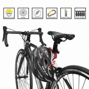 ULAC Mini Accessori Ciclismo 1200 millimetri pieghevole zaino del casco blocco filo biciclette 3digit password Antifurto Bicycle Lock h0fg #