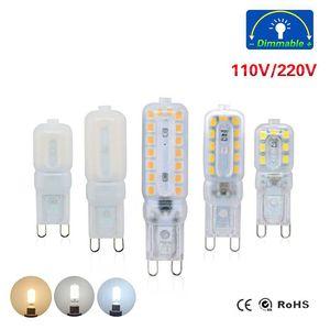 미니 LED 램프 G9 옥수수 전구 220V 110V 디 밍이 가능한 5W 7W 9W SMD 2835 LED 조명 스포트 라이트 샹들리에 조명은 할로겐 램프를 교체