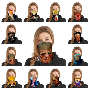 Fashion Trump Mask Trump Magic Scarf Women and Men Adult Multi Functional Sports Riding Mask Party Masks IIA261