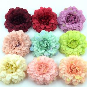 50PCS crisantemo cabeza de flor artificial de seda para la fiesta de la boda de la guirnalda de la decoración del hogar y litografías falso girasol Flores