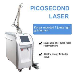 YAG-Q مفاتيح بيكوسوكون الجلد الليزر إزالة الصباغ الظلام أفضل علاج تصبغ الجلد و آلة التجميل العمودي الليزر ND YAG