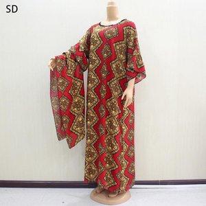 Africano Kaftan Dashiki Vestido Imprimir Caftan étnico lenço muçulmano Abaya Bazin Robe Vestidos Broder Riche
