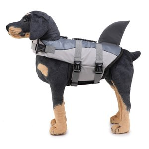 Dog Swimsuit Shark Pet Dog Life Vests Summer Pet Clothes Oxford Breathable Float Dog Life Jacket for Small Middle Large Dogs
