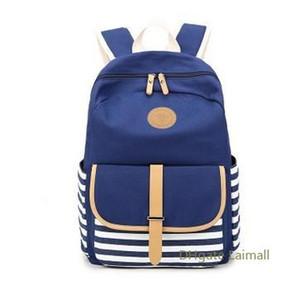 Escuela de calidad Bolsas Azules Mochila Nueva bolsa de mano Los estudiantes mochila bolsa de tela de alta calidad práctico estupendo espacio grande