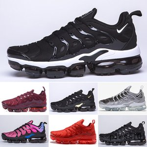 2019 TN PLUS Running Shoes For Men Women Black Speed Red White Anthracite Ultra White Black 2019 Best Designers Sneakers 40-46 GTR7N