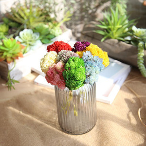 Colorido de semillas de arroz de plástico de fruta falsa artificial Plant Mini Fruit decorativo de la boda Flores Bonsai Decoración Hogar Tabla 6A1261