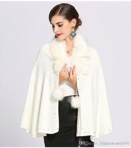 Womens Inverno Top Designer New Artificial Fox Fur Xaile capa de inverno das senhoras revestimento morno Moda Xaile Manto Tendência selvagem Xaile Quality Assurance