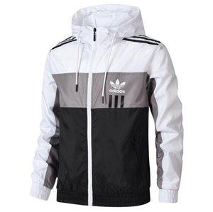 Осенние мужские куртки с 3 Stripes Молния Мужчину ветровка пальто Открытых зим куртки тавро курткой Outdoorwear одеждой