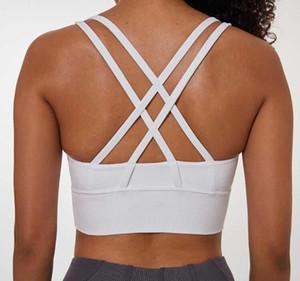 19056 Sexy en forme de Y dos froncé soutien-gorge de yoga de mode de sous-vêtements de sport de yoga antichocs top pull dame yogaworld