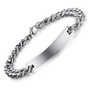 Wholesale 7mm curved Stainless Steel Bracelet new jewelry fashion trend simple smooth lovers titanium steel bracelet