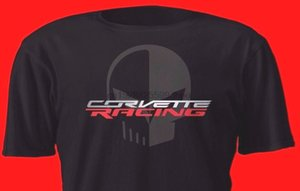 2020 Hot sale Fashion New C7.R C7 American Car Jake Skull T Shirt Red and On Black 2020 Tee shirt