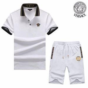 Yaz üst seviye yeni pamuk iki parçanın spor gündelik yakışıklı sıcak spor takım elbise kişilik erkekleri kısa kollu 608 8162