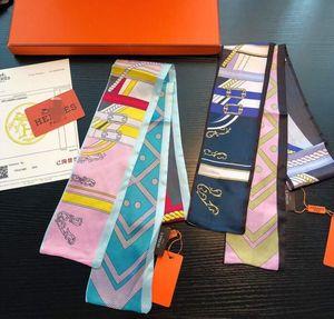 2020 Ribbon Moda Mulheres Hermès Lenço de seda bonito Design Meninas Lenço Faixa de Cabelo Bag Handle Wraps pequeno écharpe