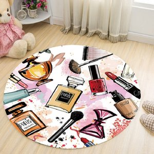 o91os Living room Coffee table computer desk dining room makeup brush 3D round car coffee table prayer mat computer chair anti-slip carpet p