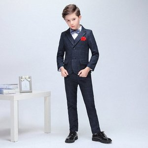 Handsome High Quality 3 Pieces (Jacket+Pant+Vest) Suit Kids Wedding Suits Boys Formal Tuxedos For c8wv#