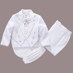 2017 new fashion white balck baby boys suit kids blazers boy suit for weddings prom formal spring autumn wedding dress boy suits S200113
