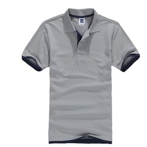 Classic Short Sleeve T shirt da Uomo Estate Casual T-Shirt Solid traspirante lusso cotone Tshirt maglie Golf Tennis Uomini Camisa Tops Y200611
