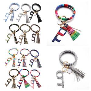Bracelet Touchless Porte-clés No Touch porte d'ascenseur Crochet Ouvre Contactless Bracelet acrylique Porte-clés Party Favor cadeau T2C5259