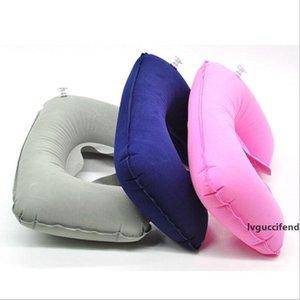 Eco-Friendly Inflatable Soft Flight Travel Car Head Neck Rest Compact Travel Flight Car Pillow Inflatable Pillow Neck U Rest Air Cushion