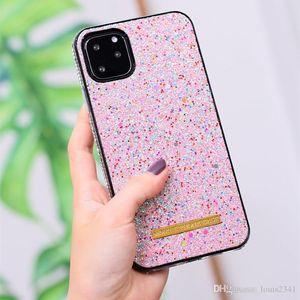 Lusso scintillio di modo del Rhinestone del diamante Casi Designer del telefono per Samsung S20 Note20 10 Pro S10 iphone 12 11 copertura posteriore Protect silicone