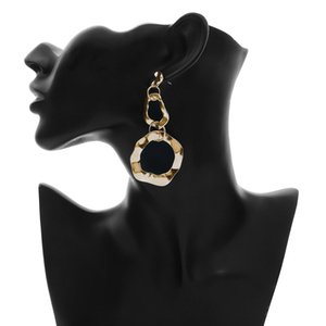 Creative Irregular Pattern Women Earrings Fashion Hollow Pendant Lady Studs Outdoor Street Style Female Earring Jewelry