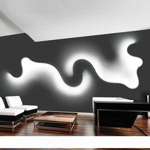 Criativa Acrílico Curve Luz cobra lâmpada LED Nordic Led parede Belt Sconce Para Decor