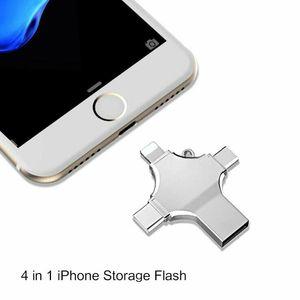 4 en 1 OTG USB Flash Drive Pendrive USB de type C pour le type IPhO Android C Clé USB OTG 32 Go NEW 4 en 1