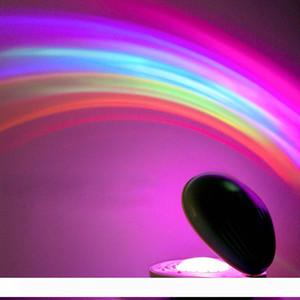 쉘 다채로운 프로젝션 램프 LED 참신 레인보우 스타 나이트 라이트 가리비 분위기 램프 무지개 핑크 초 10090