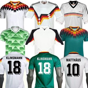 1990 1992 1994 1998 1988 독일 레트로 Littbarski 발락 축구 유니폼 Klinsmann Matthias 홈 셔츠 Kalkbrenner Jersey 1996 2004