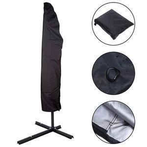 Guarda-chuvas capa impermeável tampa do guarda-chuva Cantilever Parasol mercado ao ar livre com Zipper Água Acessórios Tampa resistente tecido escuro