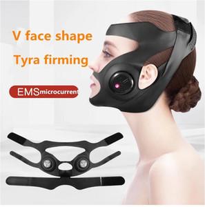 em forma de V ePack elétrica rosto fino Bandage Face Lift Up Slimming Cheek Skin Mask-line V elevação de Slim Up Face Beauty Facemask Belt
