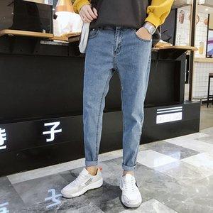 Uomo 2020 autunno nuovi jeans attillati pantaloni alla caviglia degli uomini coreani dei jeans pantaloni 9 punti 9- 9 fen ku tratto casuale 9 fen ku