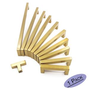 """Ouro Cabinet Knobs escovado latão Gabinete alças gaveta puxa 2 """"~ 12,6"""" Furniture Hardware Gabinete maçanetas de ouro"""