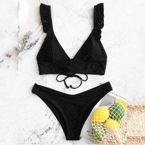 Sexy Bikini Bikini Sexy Donne Stampa Solida Costume da bagno Sexy Backless Backwear Swimwear ad alta vita Bikini Costume da bagno Beachwear Biquini # T2G SHMLL