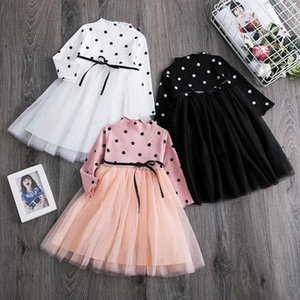 Baby Girl Long Sleeve Dots Dress Infant Kids Clothes Dot Tutu 1 2 3 4 5 Years Birthday Party Dresses Toddler Girls Causal Wear