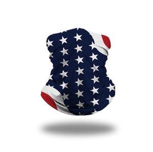 8 Styles Bandana Gesichtsmaske 3D USA Flag magische Schals Outdoor Sports Stirnband Turban Kopftuch Radfahren Gesichtsmasken CYZ2552 200Pcs