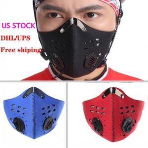 Los Estados Unidos de la Nueva Ruta de Mountain Running medias máscaras faciales anti-polvo Ciclismo mascarilla de respiración activa Activado máscara protectora de la cara ciclo del carbono