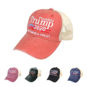 Donald Trump Baseball Hat 2020 Make America Great Again Adjustable Snapback Outdoor Sport Cotton Mesh Ball Cap DDA162