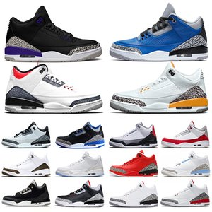 Nike Air Jordan 3 Zapatillas de baloncesto de moca para hombre Zapatillas de clorofila JTH NRG Línea de tiro libre Katrina Blanco Negro Cemento Sport Sport Trainer