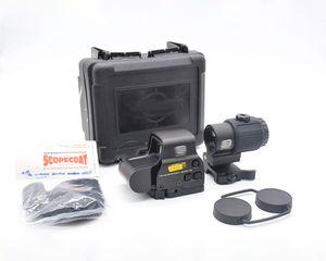 Тактические G43 сфера 3X Magnifier Scope с 558 комбо-Sight с переключателем на Side STS быстроразъемные QD крепление для охотничьего ружья Gun