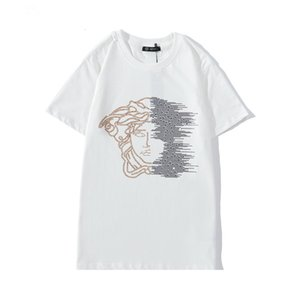 Wave Striped Print Mens Womens Design T-Shirts Streetwear Paris Lovers Summer Crew Neck Tshirts Brand Tops Teenagers Short Sleeve T-Shirts G