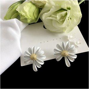 Wholsale 925 Sterling Silber vier Blattblumenbolzenohrringe für Frauen weiß schwarz rot grün Mutter Shell Klee Schmuck für Frauen