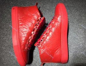 Wholesale New Style Causal Shoe Man White Red Wrinkled Low Cut Sneaker Fashion Arena luxe progettista Shoes Size 36-45 xshfbcl
