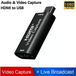 Mini tarjeta de captura de vídeo USB 2.0 HDMI Video Grabber Record Box fr PS4 juego de DVD Videocámara HD cámara de grabación en vivo