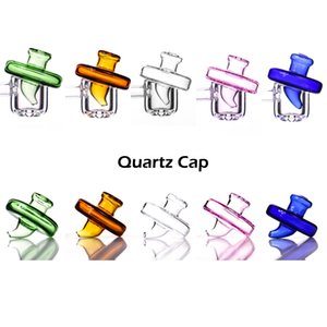 Colored glass cap for quartz banger dab rig water bong thermal cover of banger nail universal type