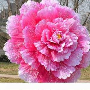 Creative Chinese Handmade Peony Flowers Bamboo Frame Umbrella Decorative Parasol Gift Women Umbrella Wedding Ornaments wen5070
