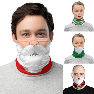 Christmas Face Shield Bandana Face Mask Outdoor Sports Bandana Mask Magic Headscarf Headband Visor Neck Gaiter Christmas Decoration Gifts
